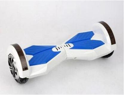 "Obrázek Hoverboard PREMIUM 8"" (white/blue) - značková baterie"