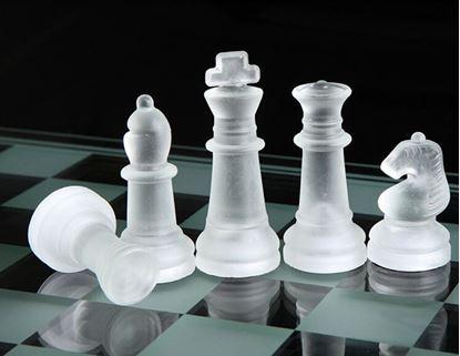 Obrázek Skleněné šachy 20cm