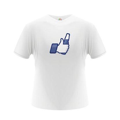 Obrázek Pánské tričko - Facebook Bottle Like - bílé - XL