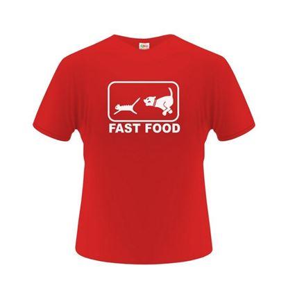 Obrázek Pánské tričko - FAST FOOD - červené - L