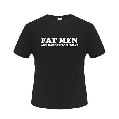 Obrázek Pánské tričko - Fat man - černé - XL