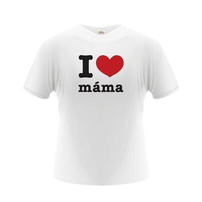 Obrázek Pánské tričko - I Love Máma - bílé - L