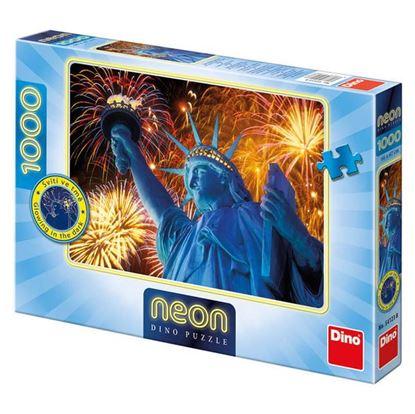 Obrázek Puzzle 1000 - Zářící Socha Svobody - svítící