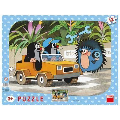Obrázek Puzzle 12 - Krtek a autíčko