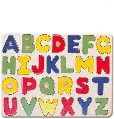 Obrázek Dětské dřevěné puzzle s písmenky abecedy