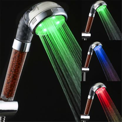 Obrázek Barevná svítící LED sprcha s kamínky