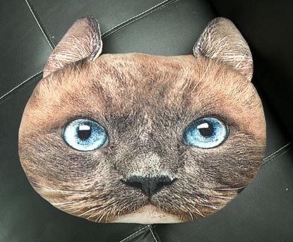 Obrázek Polštář v designu kočky - hnědý