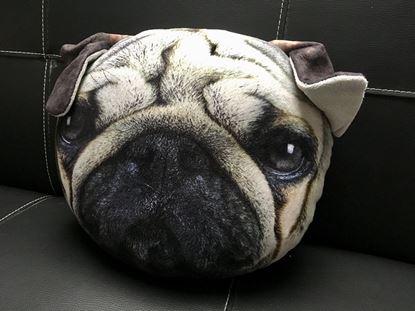 Obrázek Polštář v designu psa - šedý
