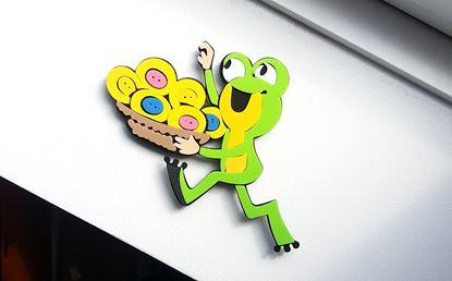 Obrázek Dekorační samolepka na zeď - žabka