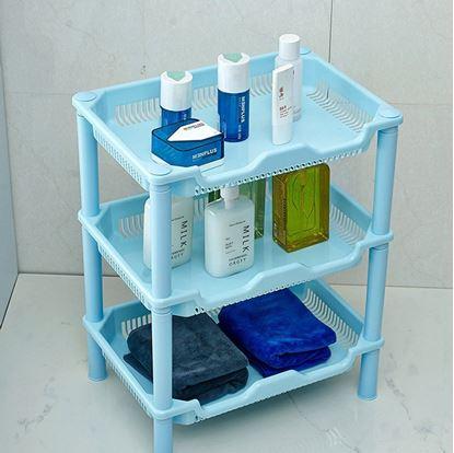 Obrázek Plastový organizér - 3 přihrádky - modrý